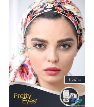 لنز طبی رنگی  Pretty  Eyes  Grey   1 tone   کد  NEL1703