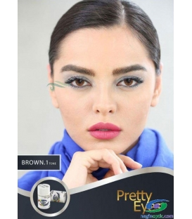 لنزطبی رنگی BROWN1tone Pretty Eyes