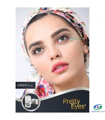 لنز طبی رنگی  Pretty  Eyes  Grey   1 tone   کد  NEL1705