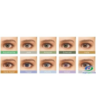 لنز طبی رنگی  BAUSCH+LOMB  رنگ  Topaz  کد  NEL1046