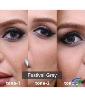 لنز طبی رنگی سالانه 3 Festival Morning  Gray Tone کد NE1632