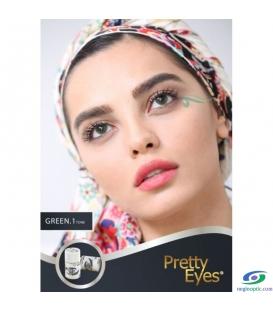 لنز طبی رنگی  Pretty  Eyes  Grey   1 tone   کد  NEL1735