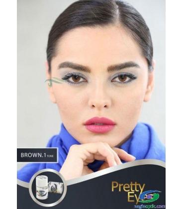 لنز طبی رنگی  Pretty  Eyes  Grey   1 tone   کد  NEL1736