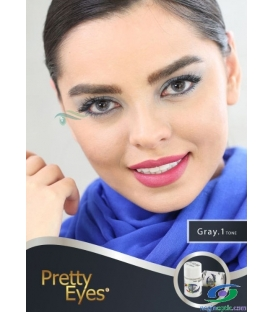 لنز طبی رنگی  Pretty  Eyes  Grey   1 tone   کد  NEL1738