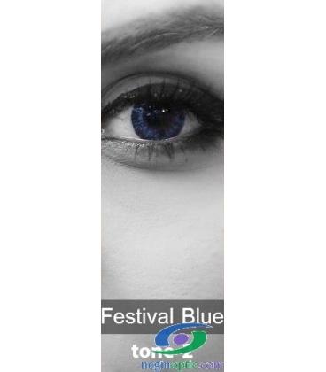 لنز طبی رنگی سالانه  Festival  Morning Blue  Tone2 کد NE1790