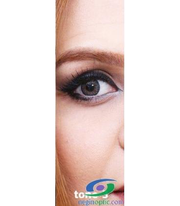 لنز طبی رنگی سالانه 3 Festival Morning  Gray Tone کد NE1792