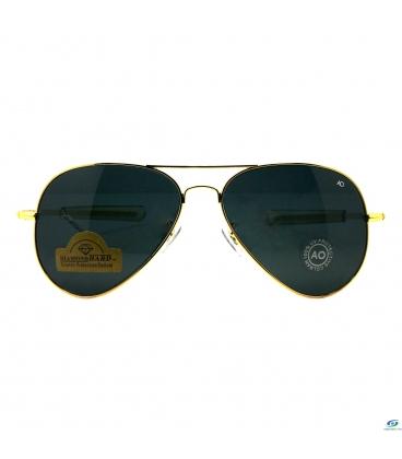 عینک آفتابی مردانه AO طلایی مدل 9017