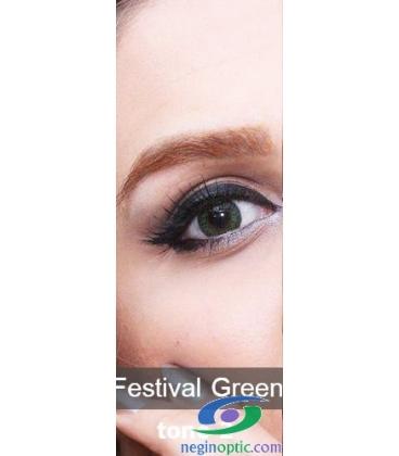 لنز طبی رنگی فصلی Festival Morning Green Tone 2