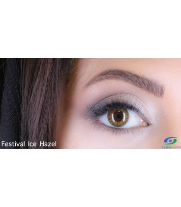 لنز طبی رنگی فصلی Festival Morning Ice Hazel 2Tone