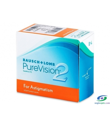 لنزطبی فصلیPure Vision 2HD for Astigmatism BAUSCH + LOMB