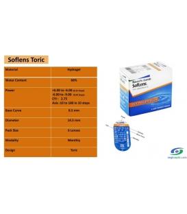 لنزطبی فصلی SofLens Toric BAUSCH + LOMB