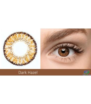 لنز رنگی BAUSCH+LOMB رنگ Dark Hazel کد NEL1045