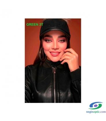 لنز رنگی سالیانه پلی ویو PolyVue رنگ green 3T