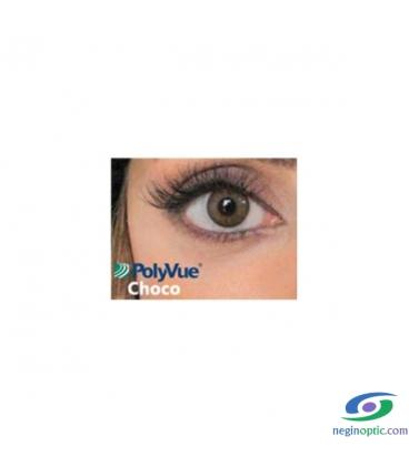لنز رنگی سالیانه پلی ویو PolyVue رنگ Choco 3T