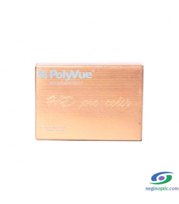 لنز رنگی سالیانه پلی ویو PolyVue رنگ Yellow Brown 2T