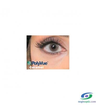 لنز رنگی سالیانه پلی ویو PolyVue رنگ Caramel 1T