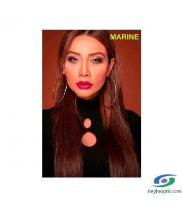 لنز طبی رنگی سالیانه پلی ویو PolyVue رنگ Marine 3T
