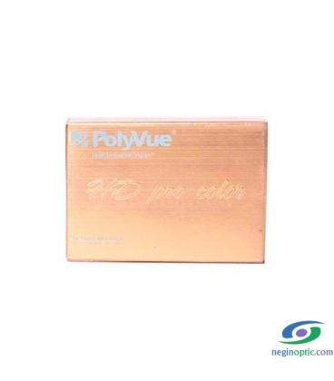 لنز طبی رنگی سالیانه پلی ویو PolyVue رنگ Golden Yellow 2T