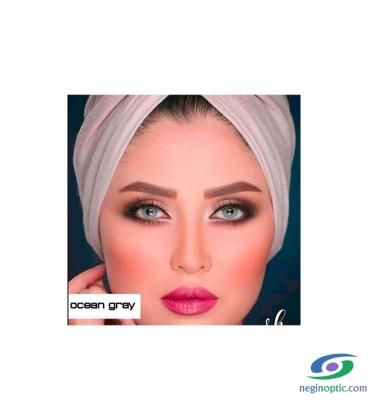 لنز طبی رنگی سالیانه پلی ویو PolyVue رنگ Ocean Gray 2T