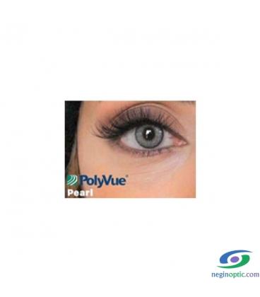 لنز طبی رنگی سالیانه پلی ویو PolyVue رنگ Pearl 3T