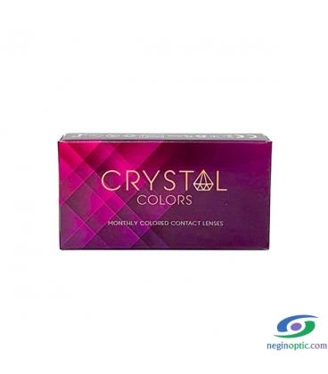 لنز طبی رنگی فصلی کریستال Crystal Colors رنگ honey blue
