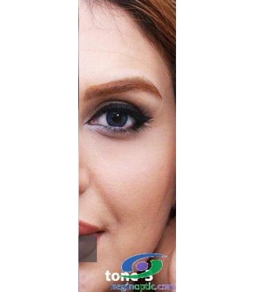 لنز طبی رنگی سالانه 3 Festival Morning Blue Tone کد NE1635