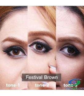 لنز طبی رنگی سالانه Festival  Morning  Brown Tone1 کد NE1638