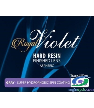 عدسی 1.56 فتوکرومیک ترانزیشن آسفریک  Royal Violet