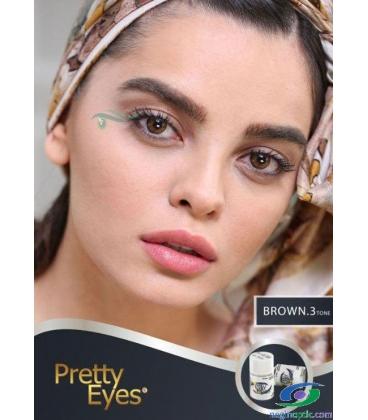 لنزطبی رنگی BROWN3tone Pretty Eyes
