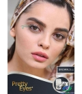 لنز طبی رنگی BROWN 3tone Pretty Eyes